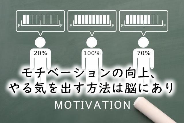 【やる気がない、おきない】モチベーションの向上、 やる気を出す方法は脳にあり